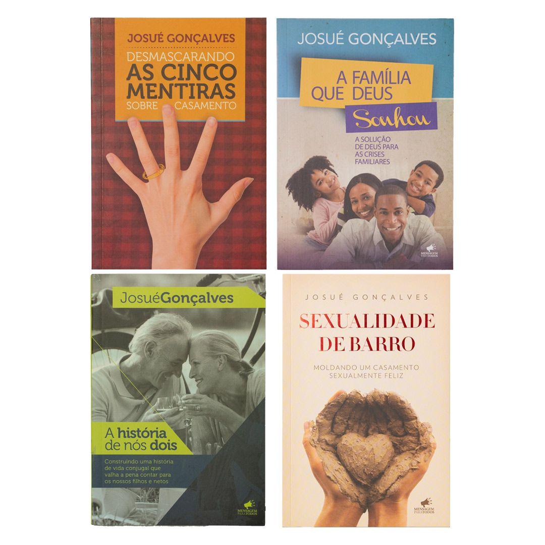 Combo de livros: Desmascarando as cinco mentiras do casamento + A história de nós dois + Sexualidade de barro + A família que Deus sonhou