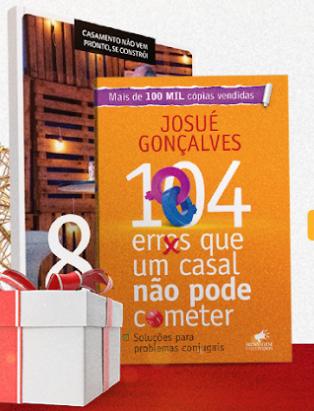 """COMBO DVD""""s CURSO 8 PASSOS PARA UM CASAMENTO EXTRAORDINÁRIO + LIVRO 104 ERROS QUE UM CASAL NÃO PODE COMETER"""