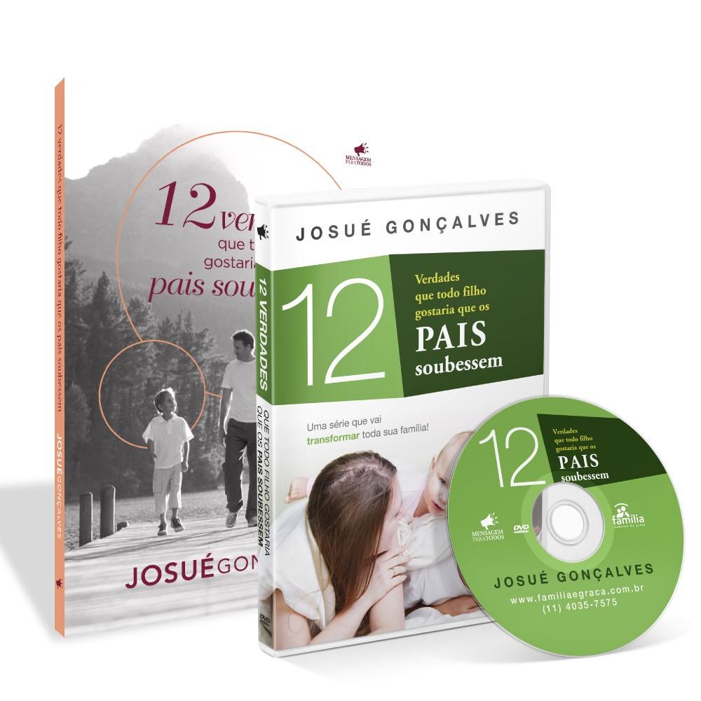KIT- 12 VERDADES QUE OS FILHOS GOSTARIAM QUE OS PAIS SOUBESSEM LIVRO+ DVD