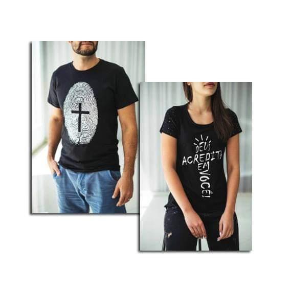 KIT - CAMISETA DIGITAL DE JESUS + BATA DEUS ACREDITA EM VOCÊ