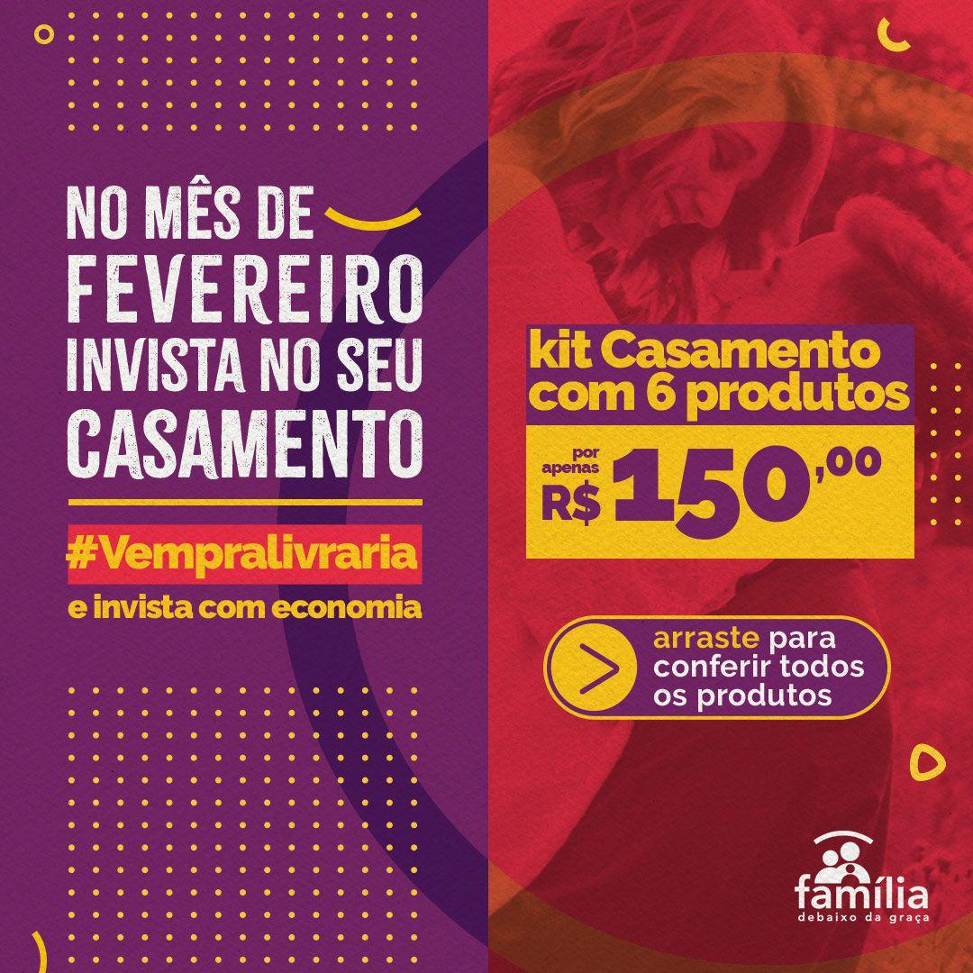 KIT CASAMENTO PARA VOCÊ CUIDAR DO SEU RELACIONAMENTO+ (5 LIVROS + CAMISETA FEMININA MOLDURA)