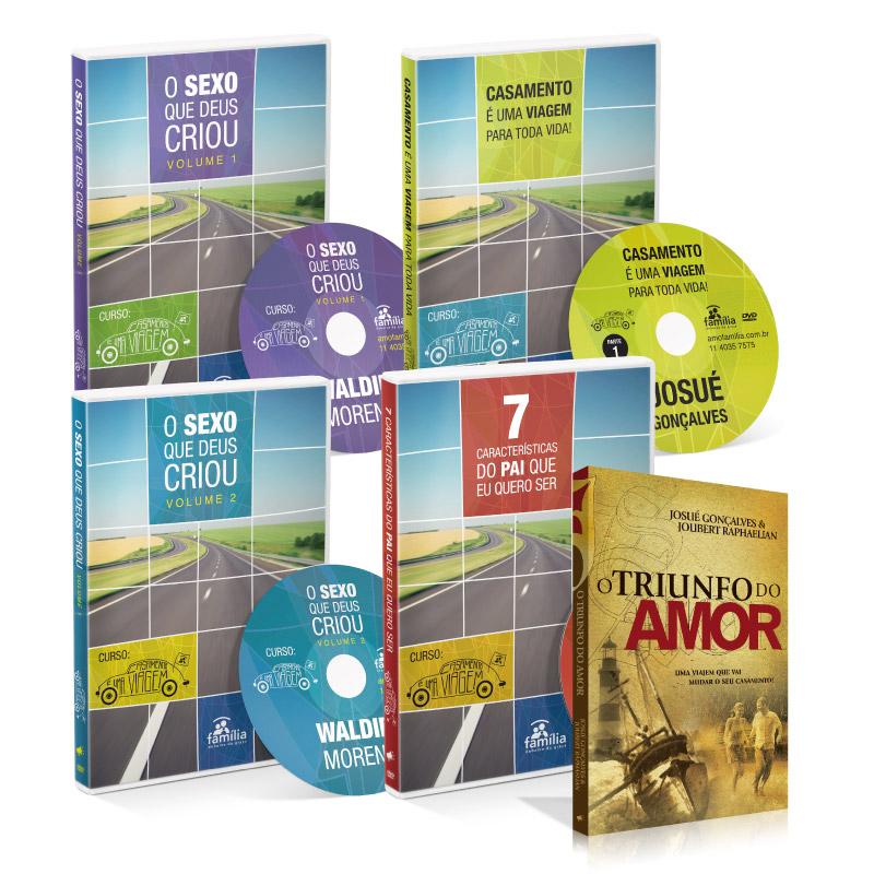 Kit Casamento é uma Viagem (4 DVDs + 1 Livro)