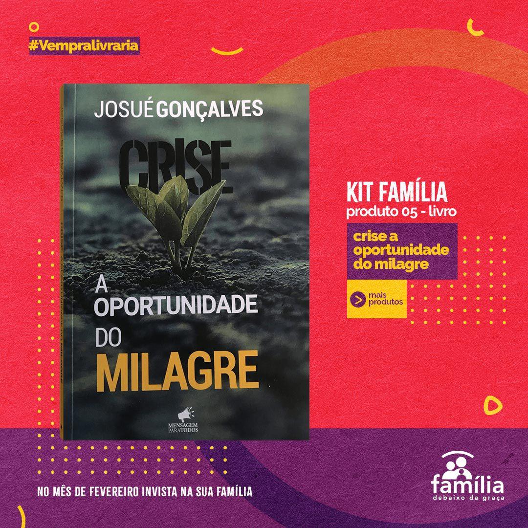 KIT FAMILIA- 5 LIVROS + CAMISETA SOU ABENÇOADO