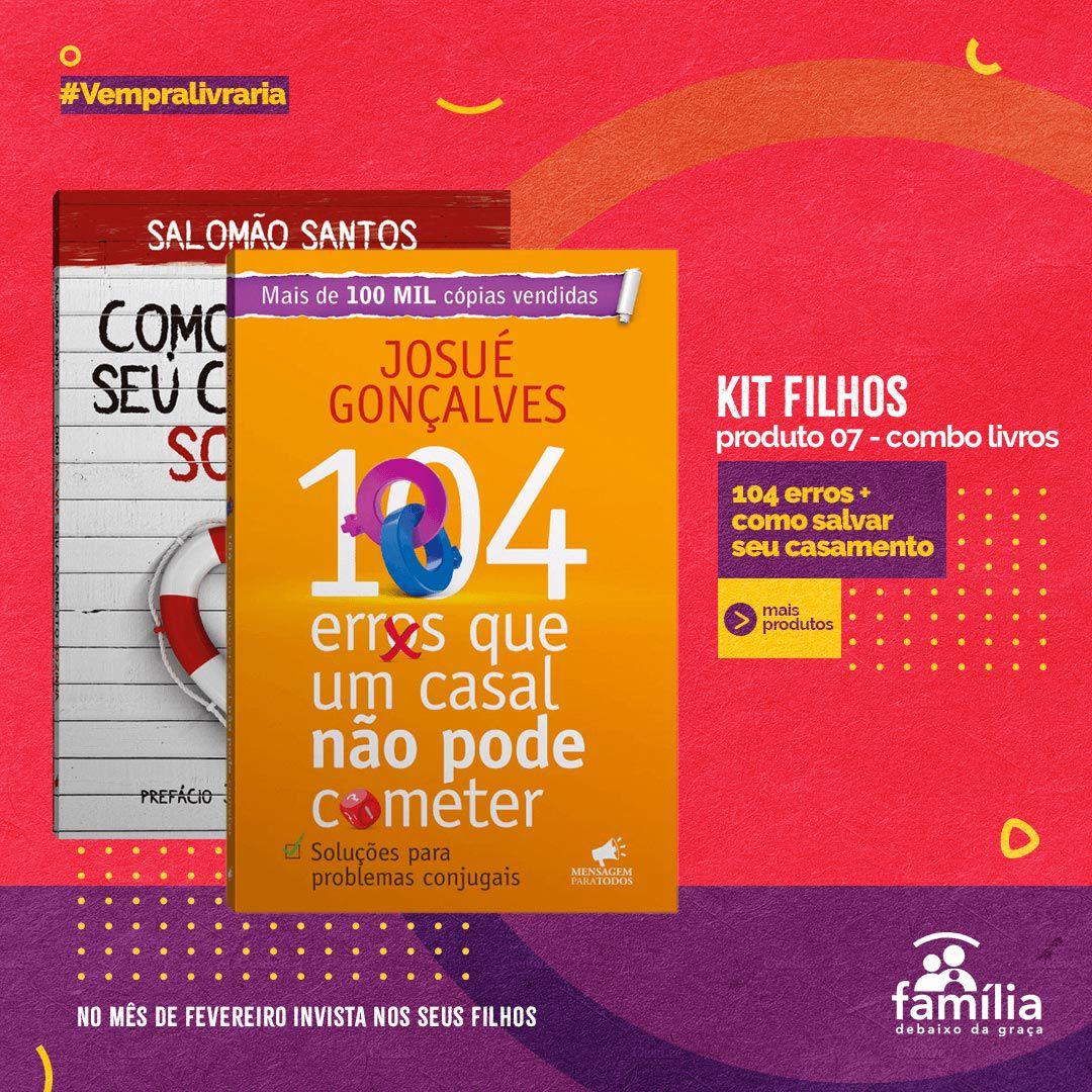 KIT FILHOS - 7 LIVROS PARA OS PAIS + 1 DVD