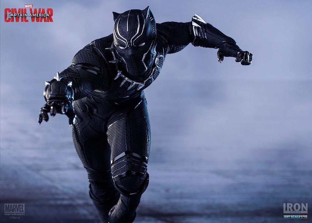 Black Panther - Pantera Negra - Guerra Civil - Art Scale 1/10 - Iron Studios