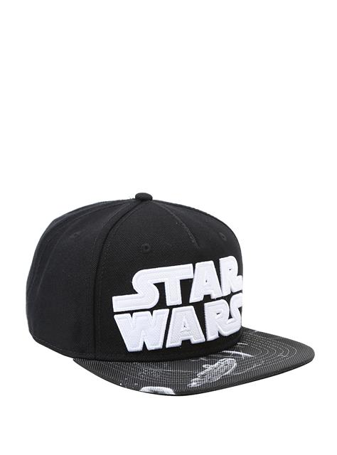 Boné Snapback: Star Wars Logo Branco