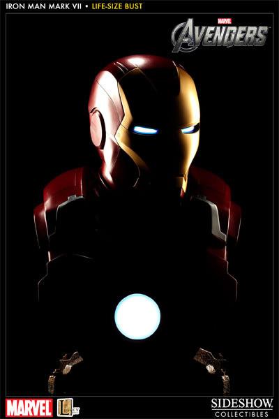 Busto Avengers: Iron Man Mark VII Escala 1/1 - Sideshow