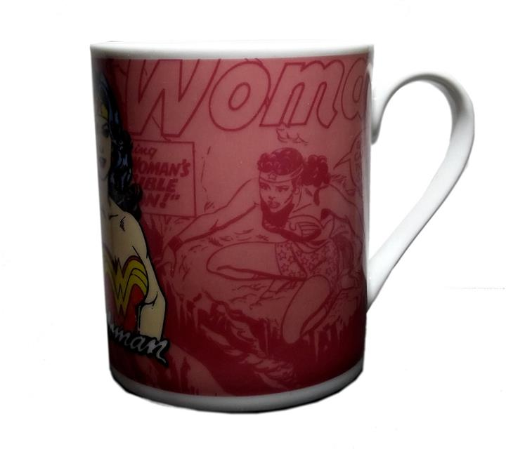 Caneca Wonder Woman Scratched Rosa