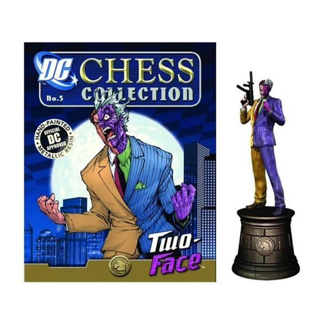 DC Chess - #6 Two Face Black Knight - Eaglemoss