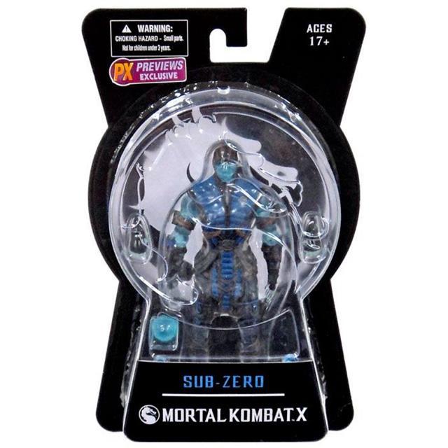 Mortal Kombat X Series 01 Sub-Zero Ice Variant PX Previews Exclusive - Mezco