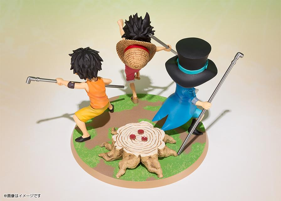 One Piece Luffy Ace Sabo Brother Promise FiguartsZero - Bandai