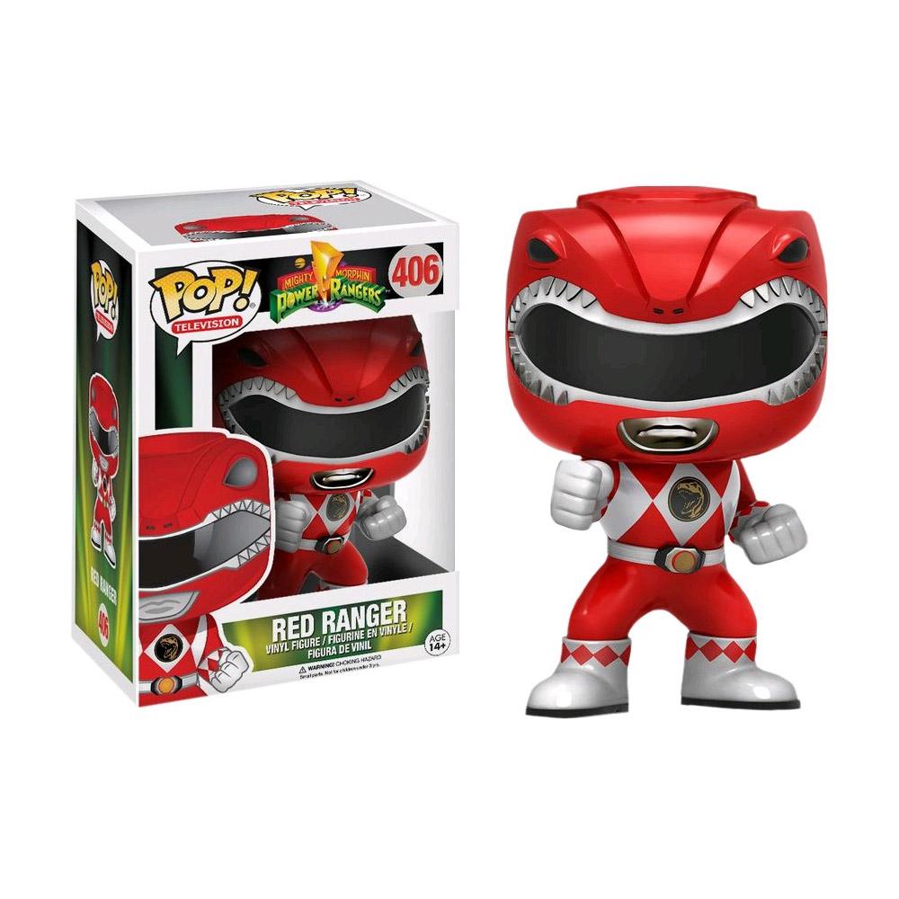 PRÉ VENDA : POP! Mighty Morphin' Power Ranger Vermelho #406 - Funko