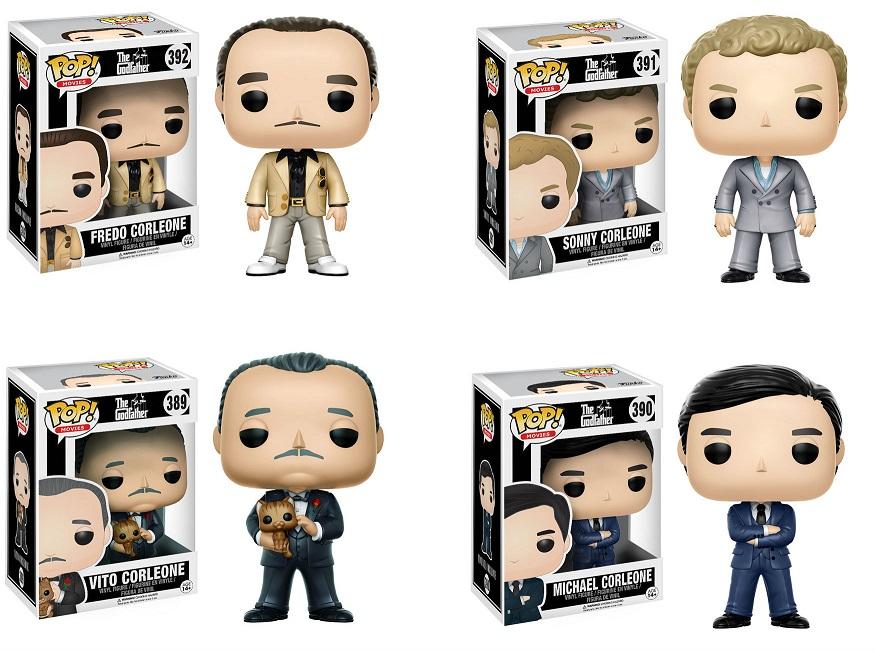 PRÉ VENDA : Pop! Movies : The Godfather Pack com 4 Figuras - Funko