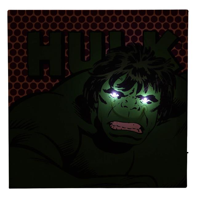 Quadro Canvas com LED Hulk - Zona Criativa