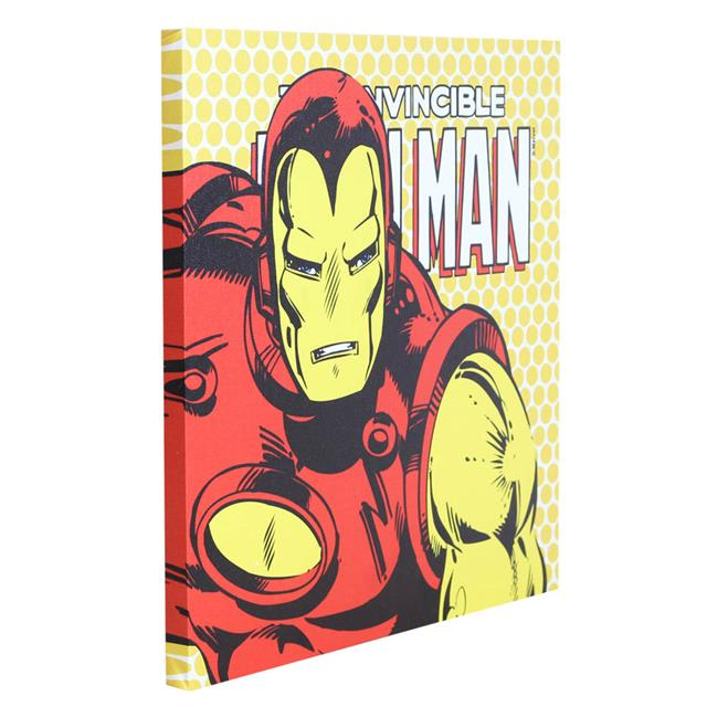 Quadro Canvas com LED Iron Man - Zona Criativa