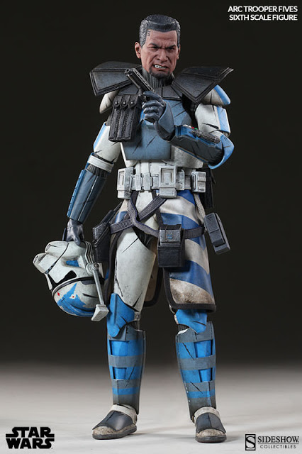Star Wars Arc Clone Trooper Fives Escala 1/6 - Sideshow