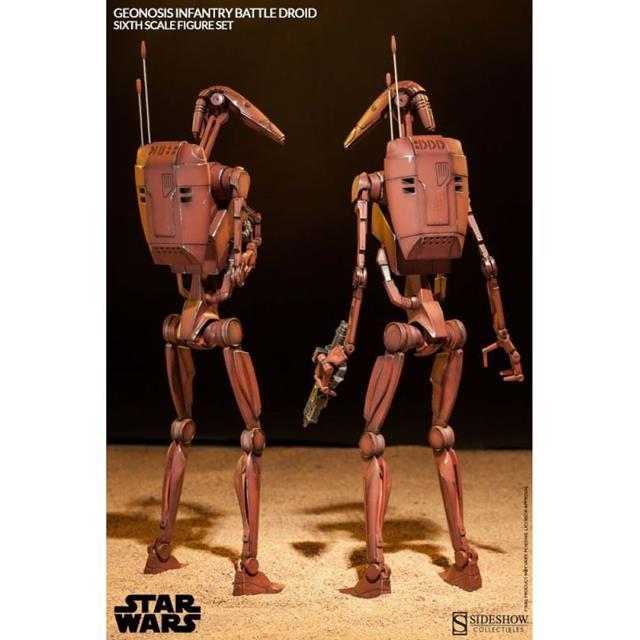 Star Wars Geonosis Infantry Battle Droids - 1/6 Sideshow (Produto Exposto)