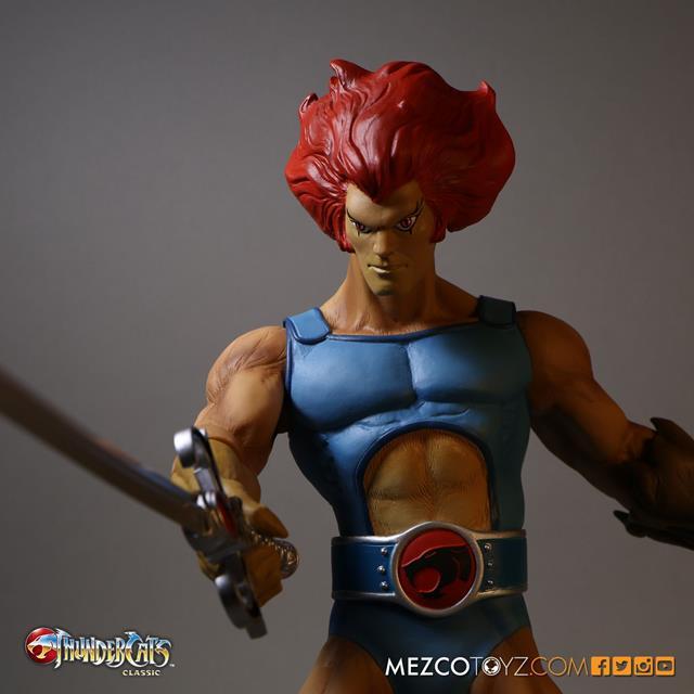 ThunderCats: Lion-O e Snarf Escala 1/6 - Mezco