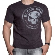 Camiseta Estonada Manga Curta - Preta - Black Skull