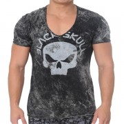 T-Shirt Rust - Black Skull