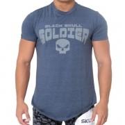 T-Shirt Skull Soldier - Azul - Black Skull