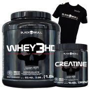 Whey 3HD 1,8kg + Creatine 300g + Camiseta Black Skull (Brinde)