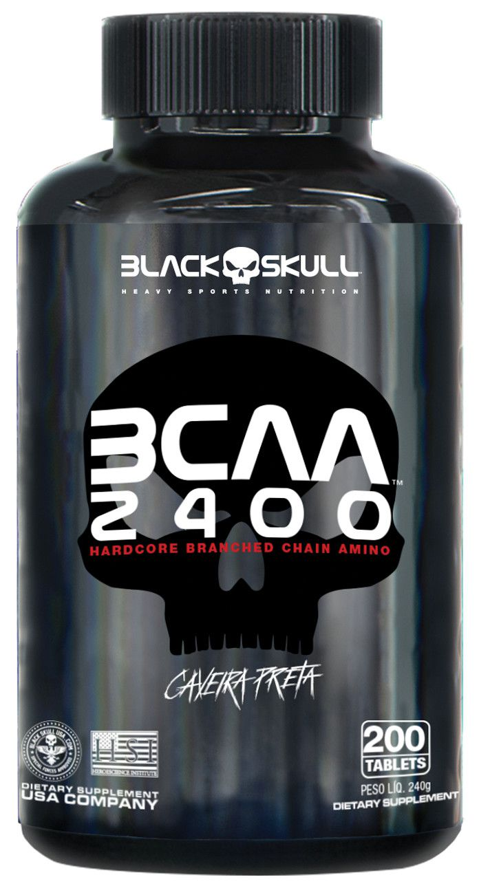 BCAA 2400 200 Caps - Black Skull