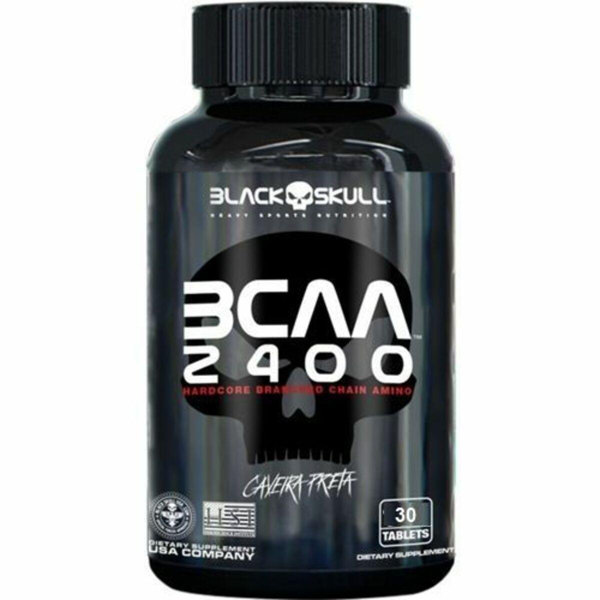 Bcaa 2400 30 Tabletes - Black Skull - Caveira Preta