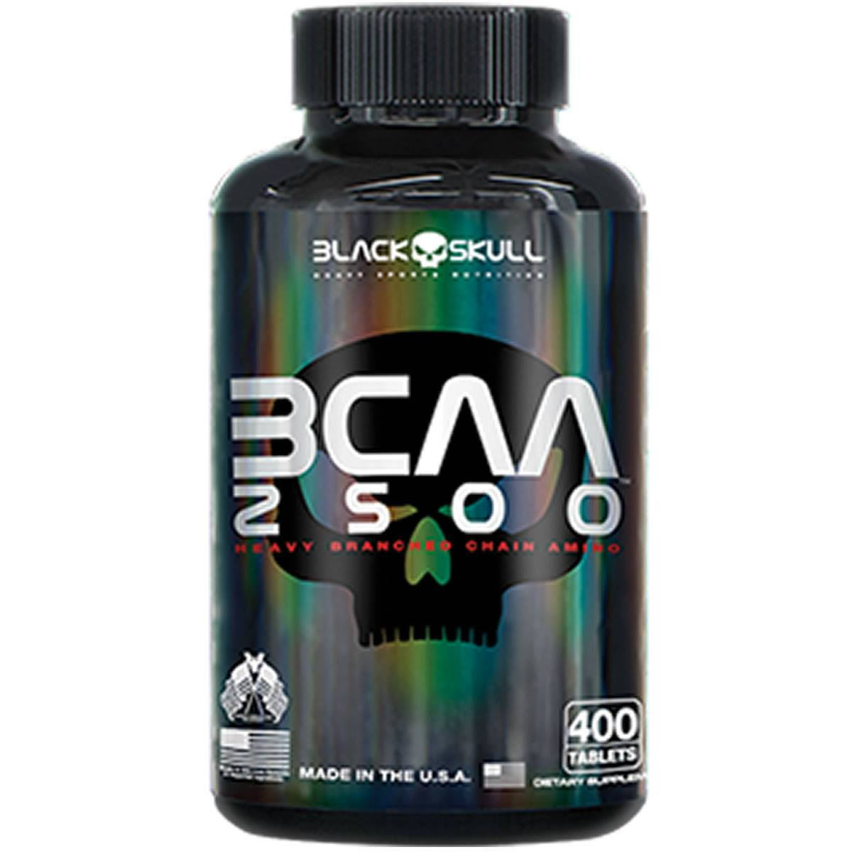 BCAA 2500 400 Cápsulas - Black Skull
