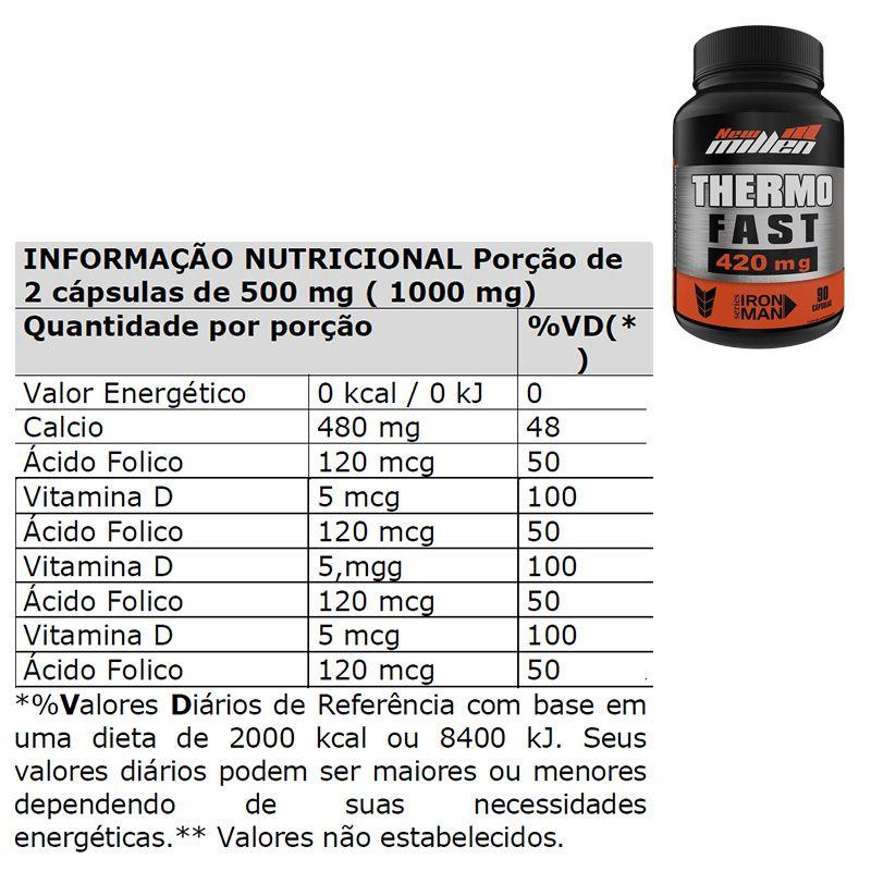 Caffeine Thermo Fast 420mg - 90 Cápsulas - New Millen