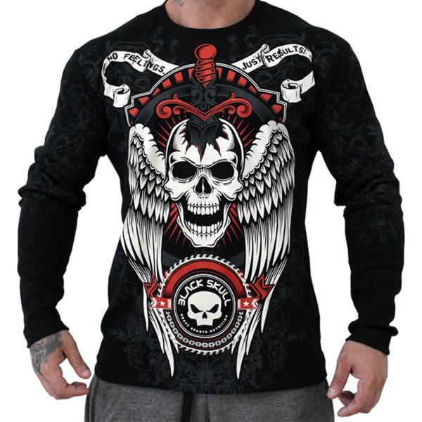 Camiseta faca na caveira com asas - Black Skull