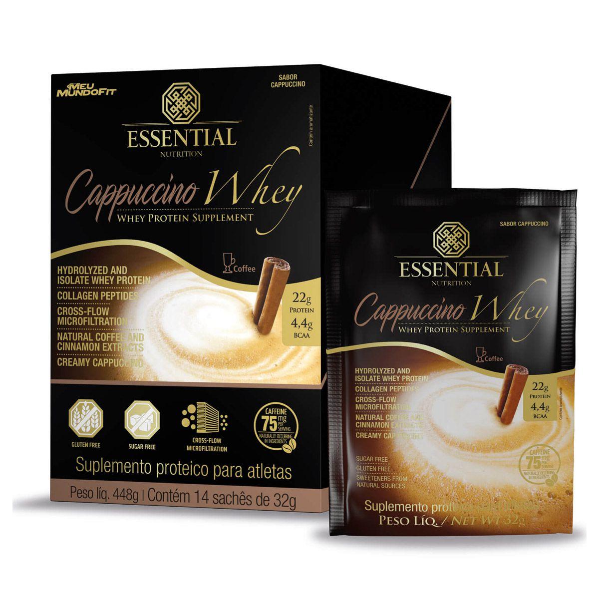 Cappuccino Whey - 14 Sachês de 32g - Essential Nutrition