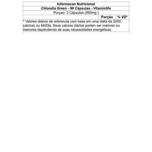 Chlorella Green 90 cápsulas - Vitamin Life