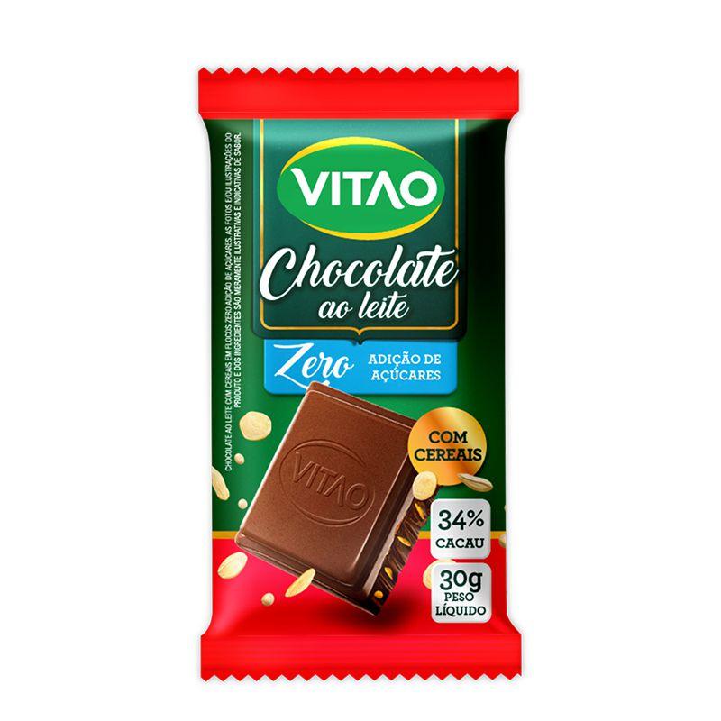 Chocolate ao Leite Com Cereais - Embalagem com 18 Unidades de 30g - Vitao