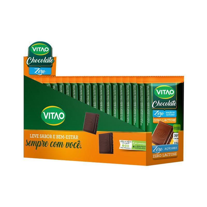 Chocolate Zero Lactose - 24 unidades de 22g - Vitao