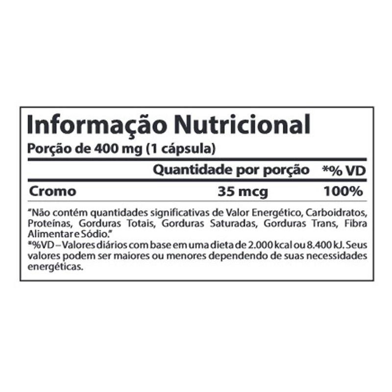 Chromium Picolinate - 120 Cápsulas - Atlhetica Nutrition