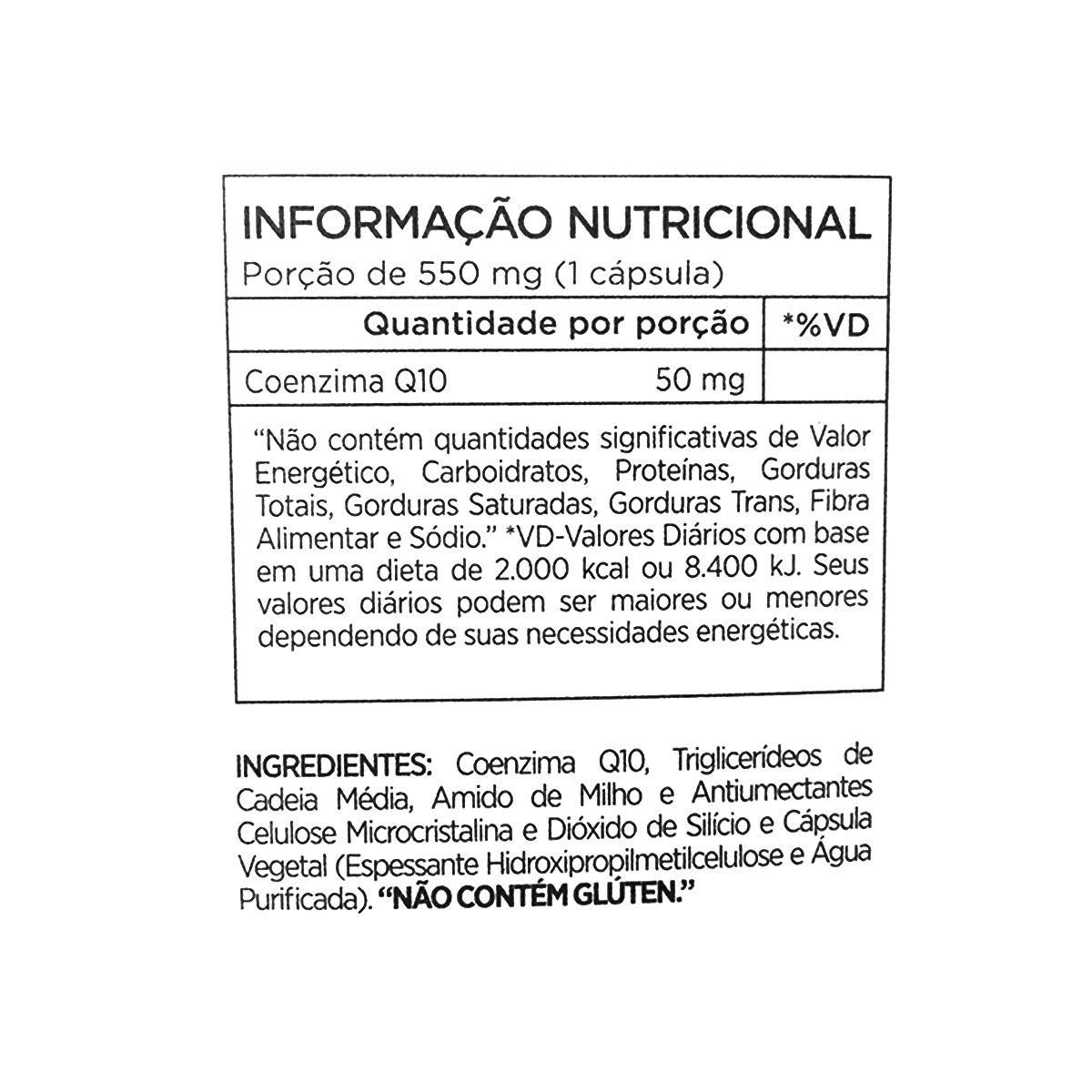 Co Q10 50mg - 60 Cápsulas - Atlhetica Nutrition Cleanlab