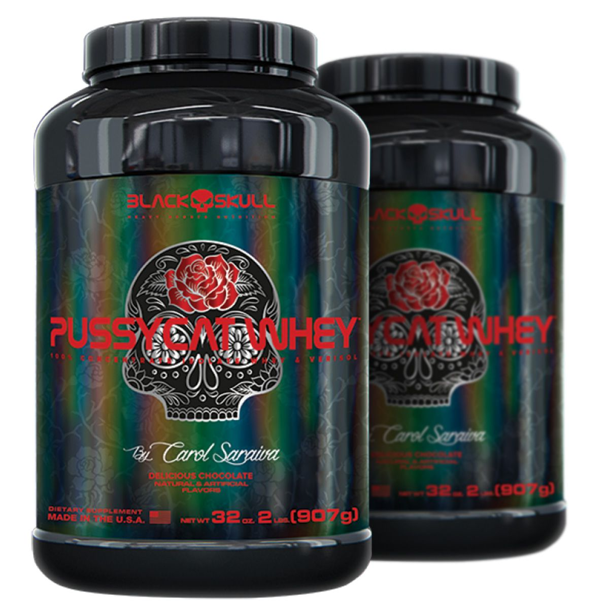 Compre 1 Leve 2 Pussycat Whey - 900g - Black Skull