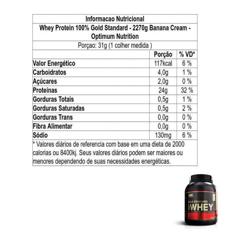 Gold Standard 2,2kg - Optimum Nutrition - Val. 12/2020