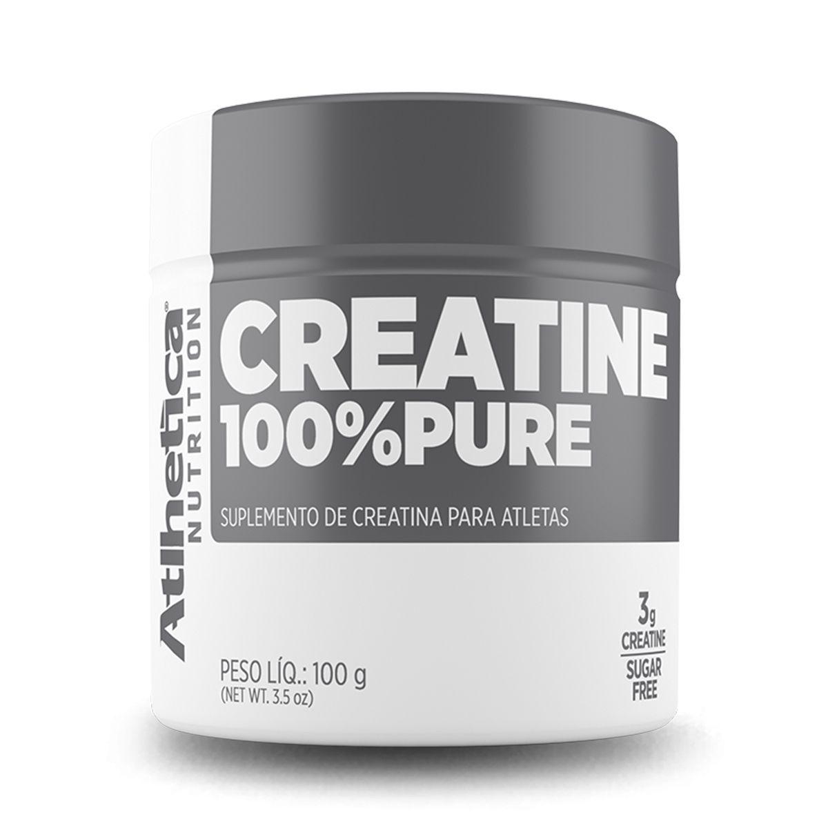 Creatina 100% Pure - 100g - Atlhetica