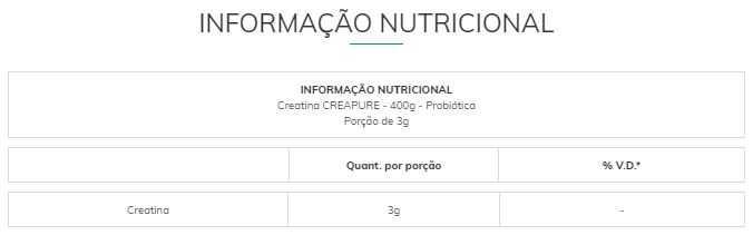 Creatina Creapure 400 g - Probiótica