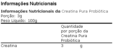 Creatina Monohidratada 100 g - Probiótica