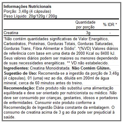 Creatina Pro Series 120 Cápsulas - Atlhetica