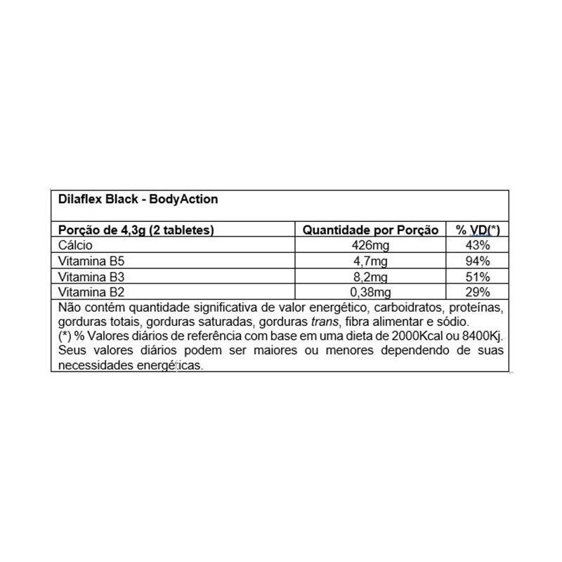 Dilaflex Black Blister - 60 Cápsulas - Body Action