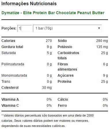 Elite Protein Bar 70 g Chocolate Peanut Butter - Dymatize