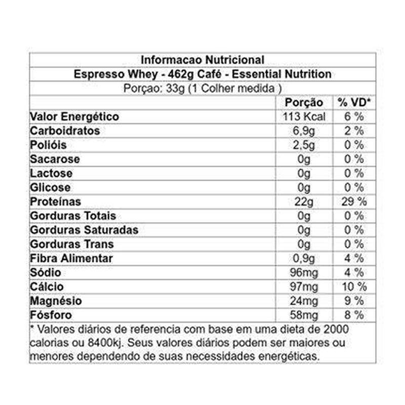 Expresso Whey 462g - Essential Nutrition