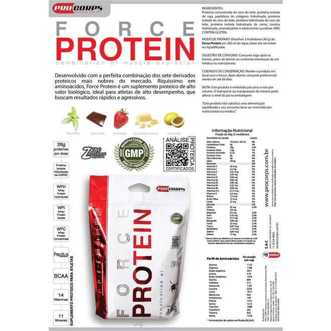 Force Protein 1,8kg - Pro Corps