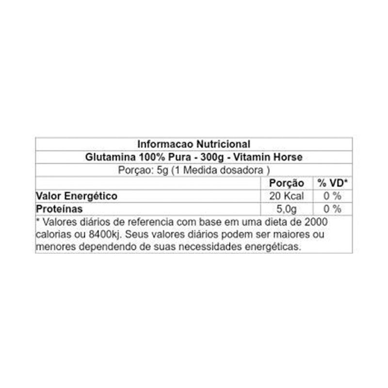 Glutamina - 300g - Vitamin Horse