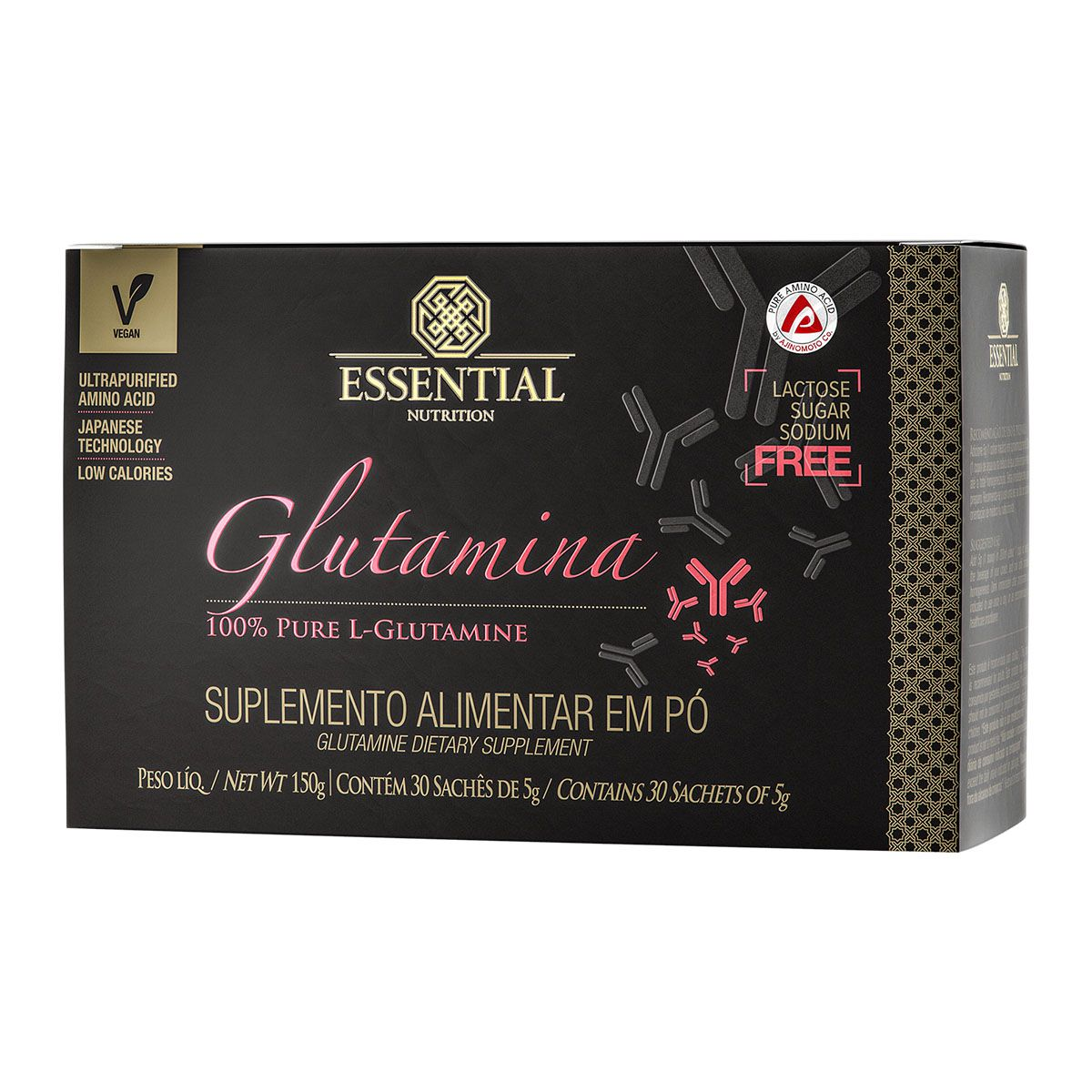 Glutamina 30 sachê 5g - Essential Nutrition