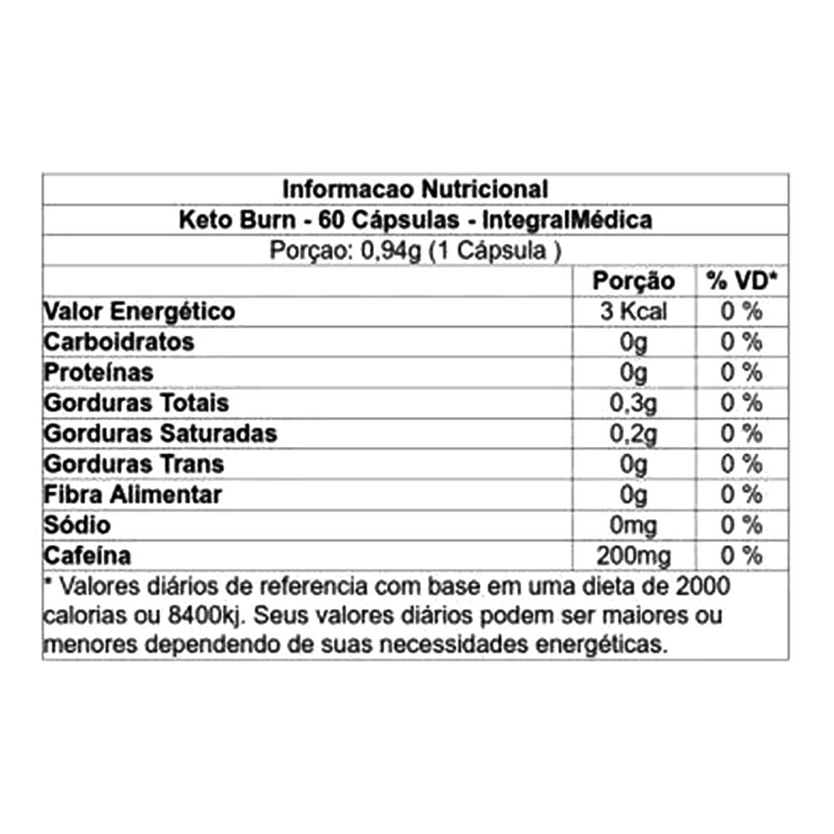 Keto Burn - 60 Cápsulas - Integralmédica